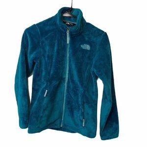 Girl's Blue The North Face Fleece Zip up Jacket